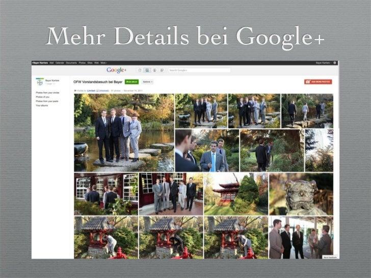 Mehr Details bei Google+    der Universität Leverkusen