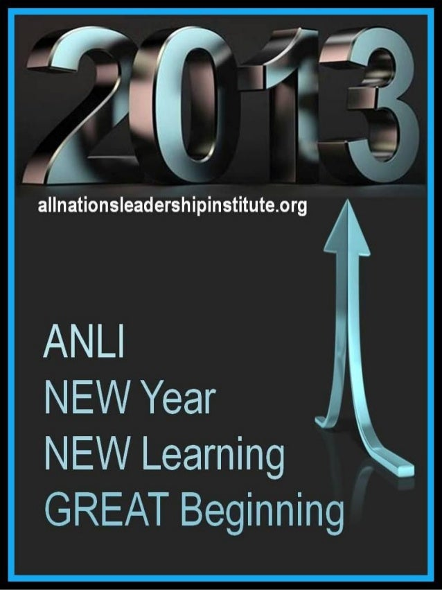 All Nations Leadership Institute Announcement 2013