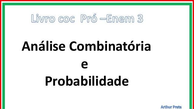 Análise Combinatória e Probabilidade
