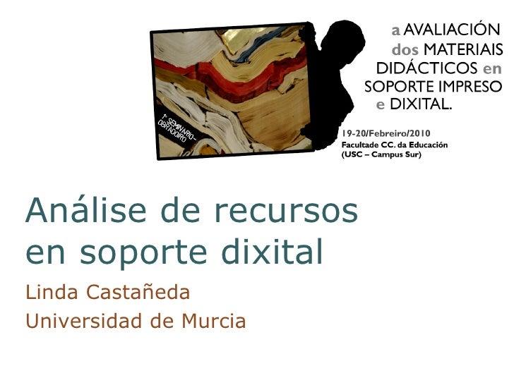 AnáLise De Recursos En Soporte Dixital Neg2010