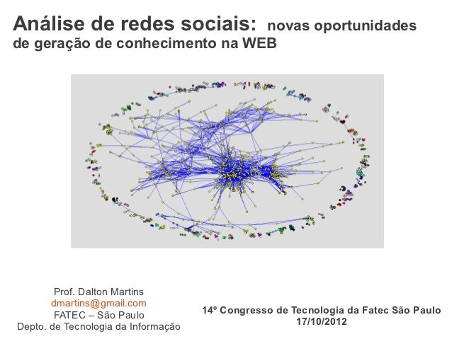 Análise de redes sociais: novas oportunidades de geração de conhecimento na Web