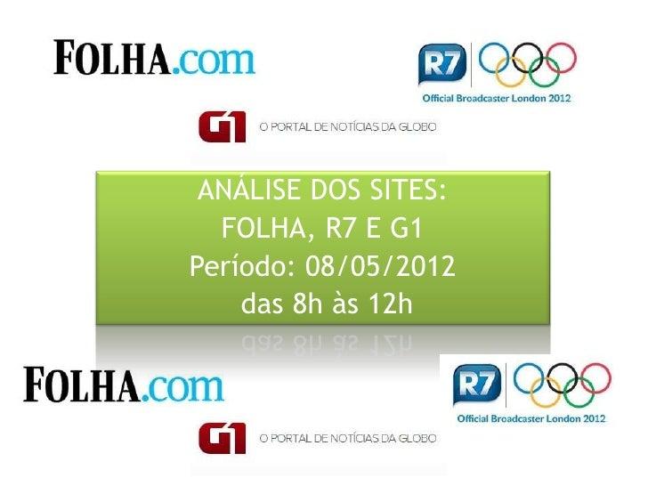 Análise dos sites Folha, R7 e G1