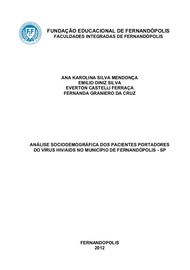 FUNDAÇÃO EDUCACIONAL DE FERNANDÓPOLIS                FACULDADES INTEGRADAS DE FERNANDÓPOLIS              ...