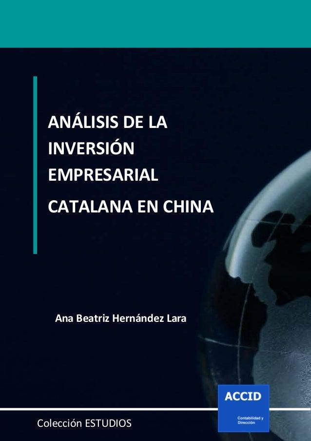 Análisis de la inversión empresarial catalana en China