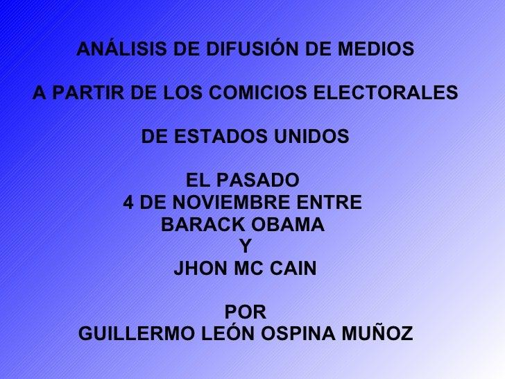 Análisis de medios en elecciones de Estados Unidos