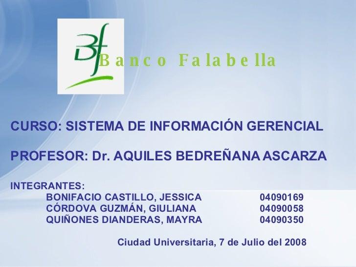 INTEGRANTES:  BONIFACIO CASTILLO, JESSICA 04090169 CÓRDOVA GUZMÁN, GIULIANA 04090058 QUIÑONES DIANDERAS, MAYRA 04090350 Ci...