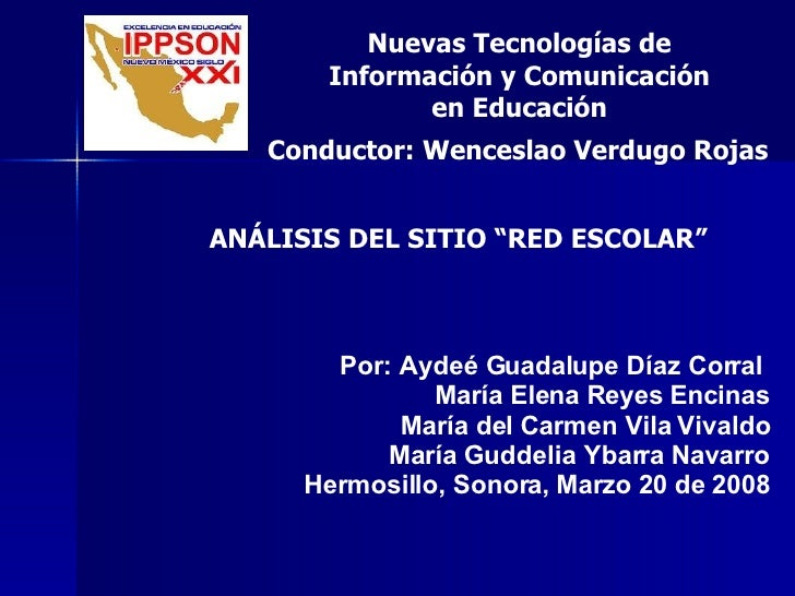 Por: Aydeé Guadalupe Díaz Corral  María Elena Reyes Encinas María del Carmen Vila Vivaldo María Guddelia Ybarra Navarro He...