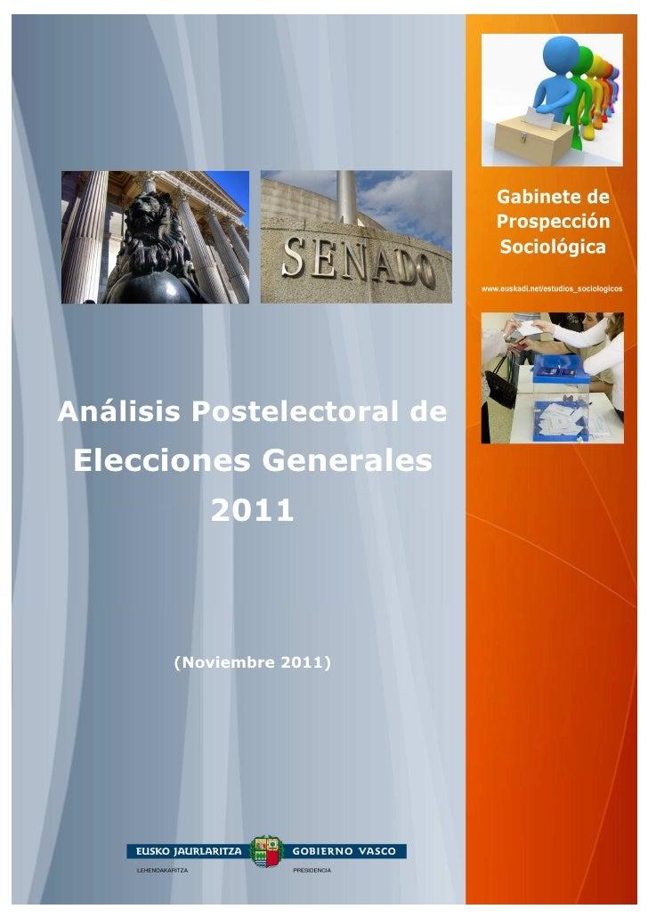 Análisis Postelectoral deElecciones Generales          2011       (Noviembre 2011)
