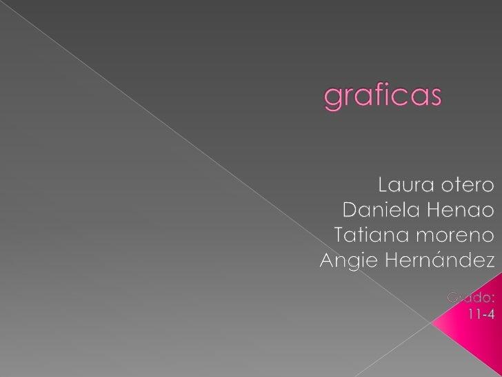 graficas<br />Laura otero<br />Daniela Henao<br />Tatiana moreno<br />Angie Hernández<br />Grado:<br />11-4 <br />