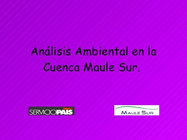 AnáLisis Ambiental En La Cuenca Maule Sur