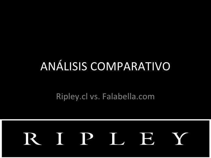ANÁLISIS COMPARATIVO Ripley.cl vs. Falabella.com