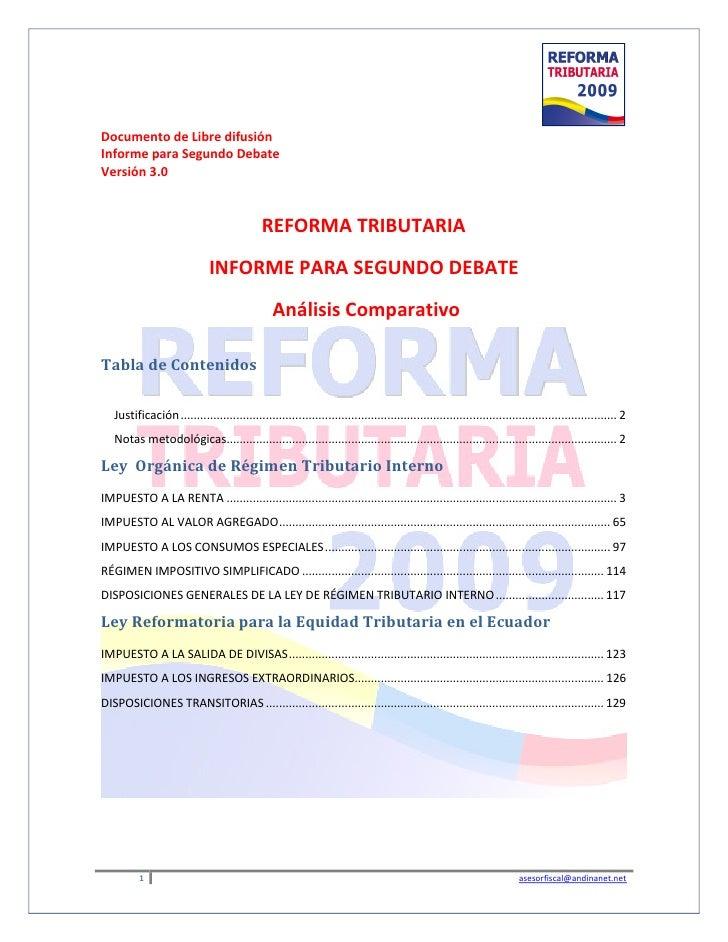 Análisis Comparativo - Segundo Debate 2009