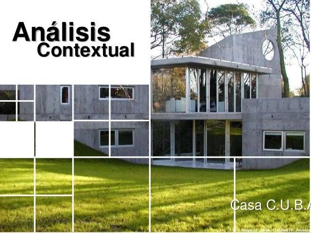 Análisis  Contextual               Casa C.U.B.A