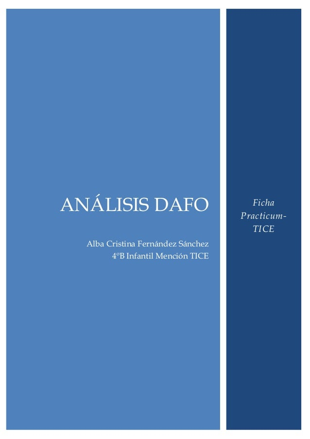 ANÁLISIS DAFO                         Ficha                                    Practicum-                                 ...
