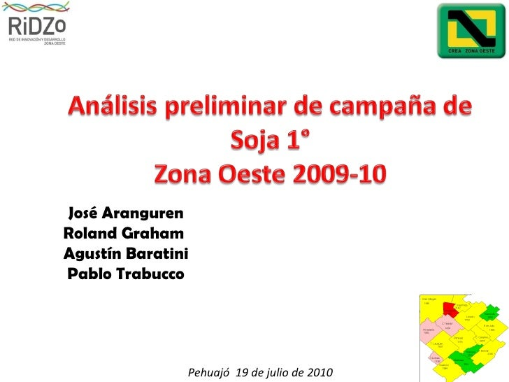Análisis de campaña Soja 1° 2009 10