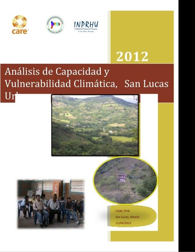Análisis de Capacidad y Vulnerabilidad Climática San Lucas urbano