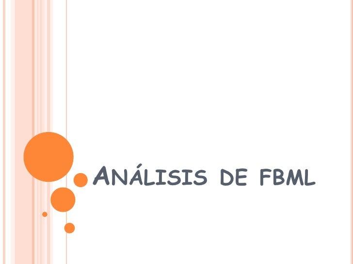 Análisis de fbml<br />