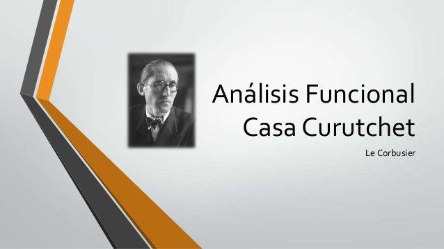 Análisis Funcional Casa Curutchet Le Corbusier