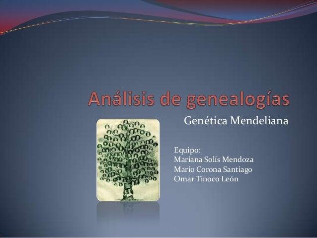 Análisis de genealogías