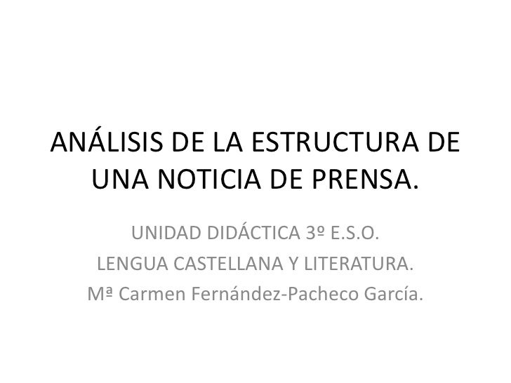 estructura de una noticia: