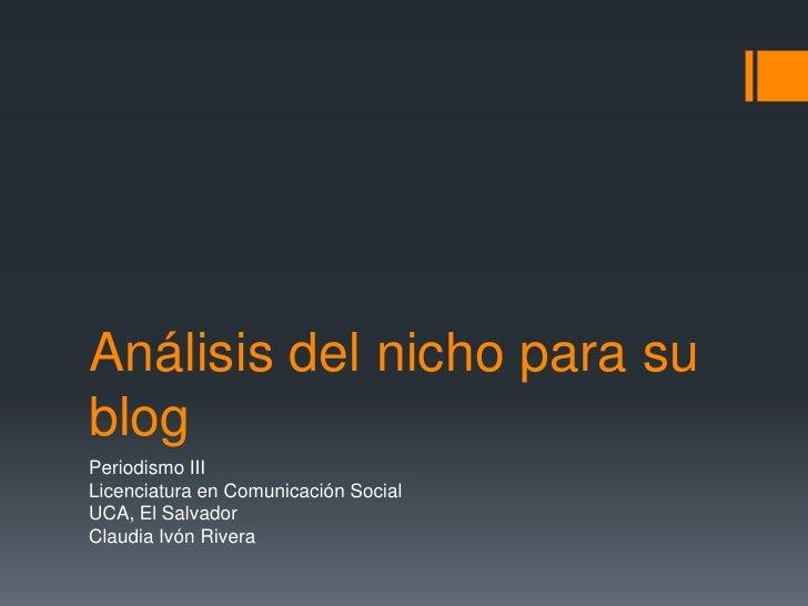 Análisis del nicho para su blog