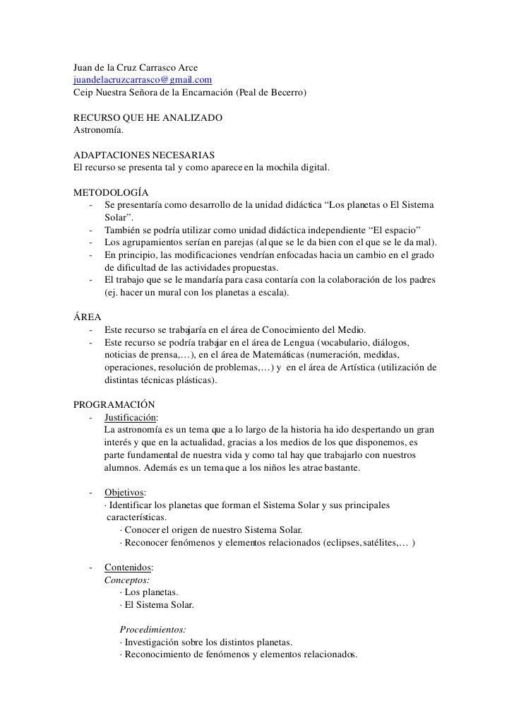 AnáLisis De Los Recursos De La Mochila Digital (Tic)