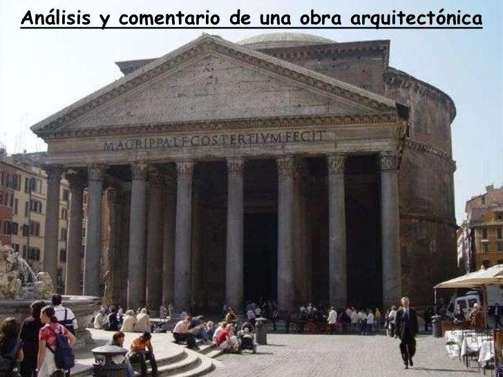 Análisis y comentario de una obra arquitectónica<br />