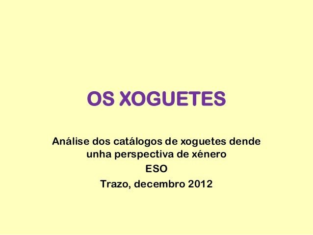Análisis dos catálogos de xoguetes