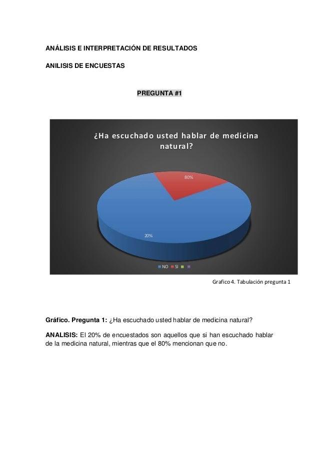 ANÁLISIS E INTERPRETACIÓN DE RESULTADOS ANILISIS DE ENCUESTAS PREGUNTA #1 Gráfico. Pregunta 1: ¿Ha escuchado usted hablar ...