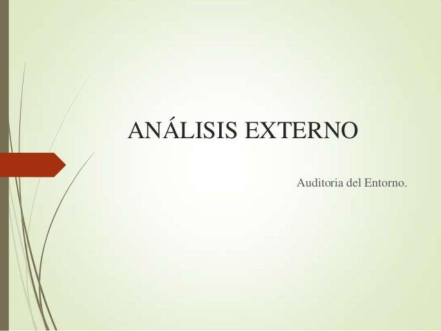An Lisis Interno Y Externo