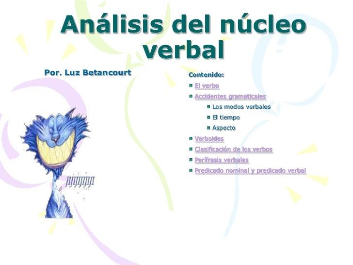 Análisis núcleo verbal