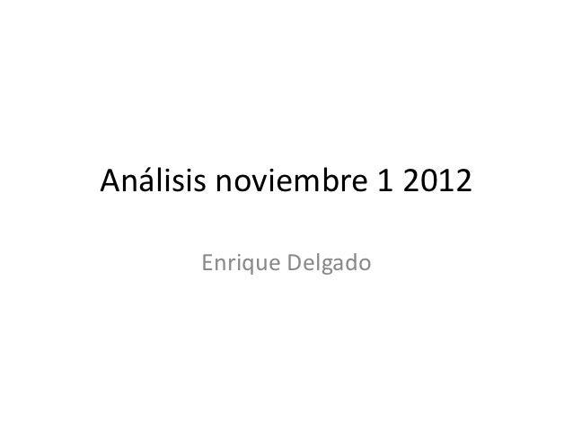 Análisis noviembre 1 2012
