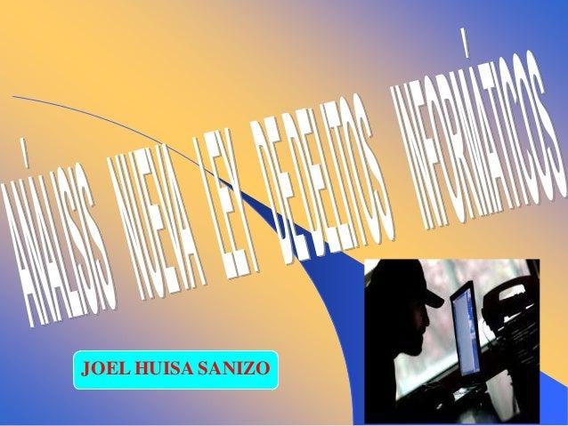 JOEL HUISA SANIZO