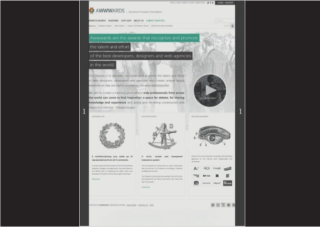 Análisis pantalla full awwwards presentación