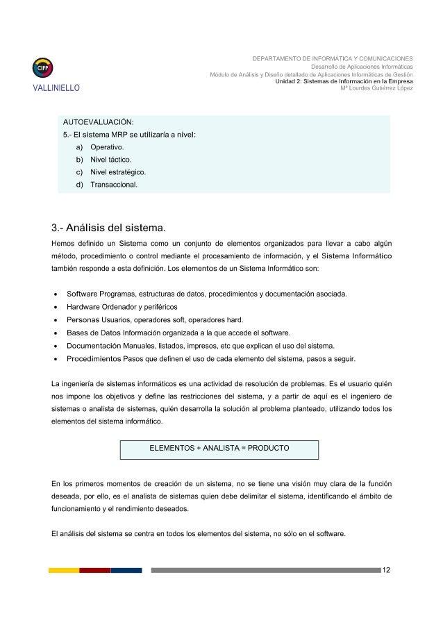 DEPARTAMENTO DE INFORMATICA Y COMUNICACIONES  Desarrollo de Aplicaciones Informáticas Modulo de Analisis y Diseño detallad...