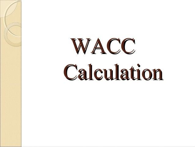 Anıl Sural - WACC Calculation