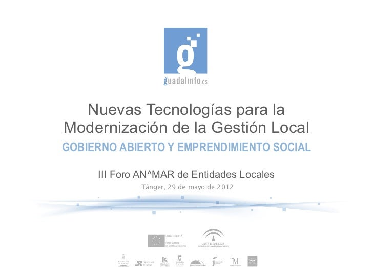 Nuevas Tecnologías para la Modernización de la Gestión Local