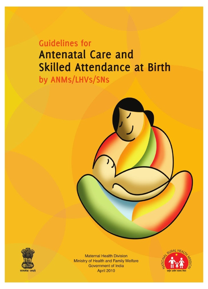 Guidelines for antenatal care and skilled attendance at birth by ANMs/LHVs/SNs