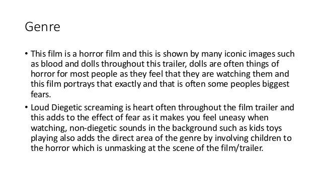What horror film is great for an essay on Film Analysis?