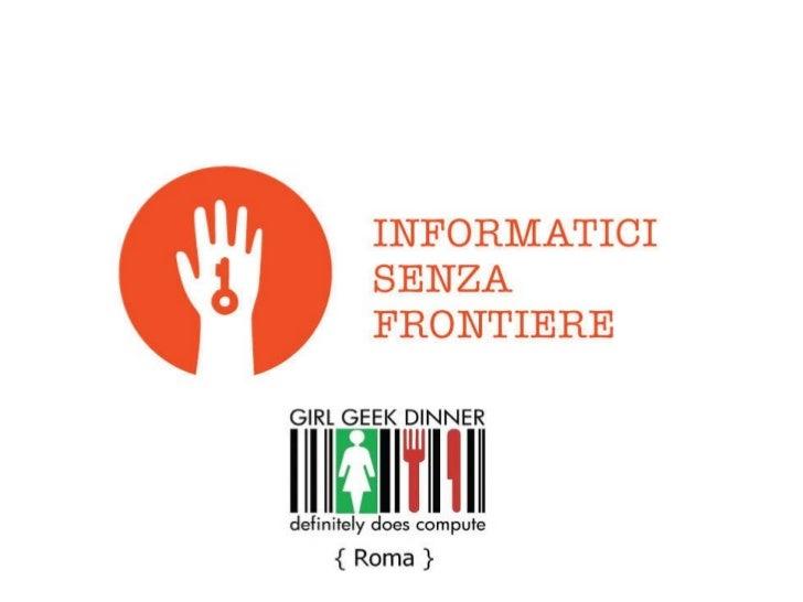 Anna Giannetti: Informatici Senza Frontiere