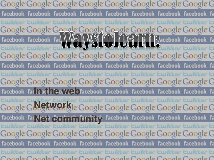 In the webNetworkNet community