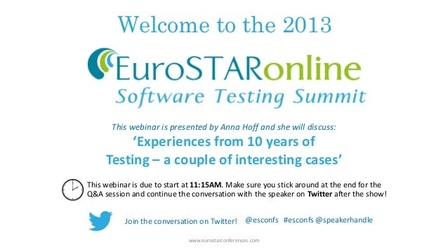 Welcome to the 2013 This webinar is due to start at 11:15AM. Make sure you stick around at the end for the Q&A session and...