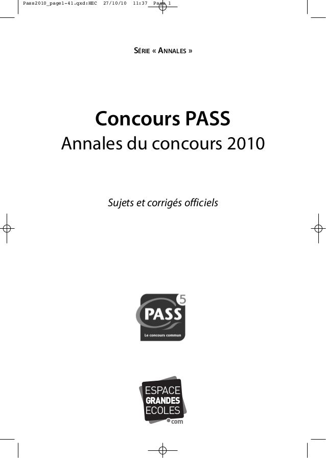 Annales concours-pass-2010