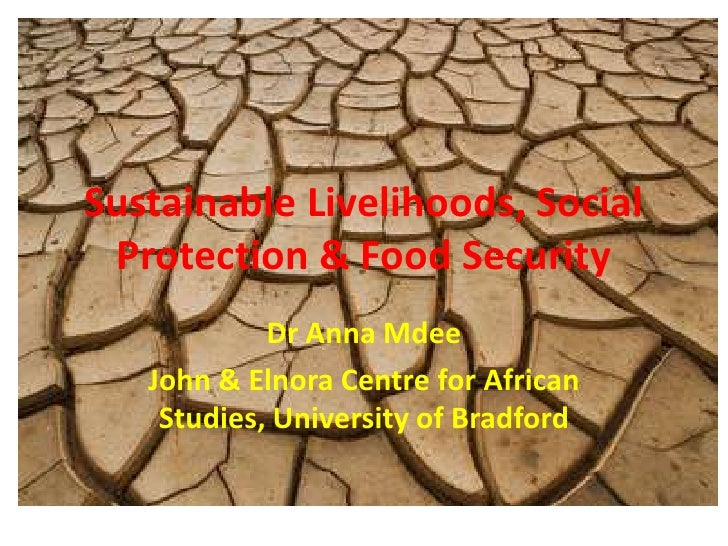 Sustainable Livelihoods, Social Protection & Food Security<br />Dr Anna Mdee<br />John & Elnora Centre for African Studies...