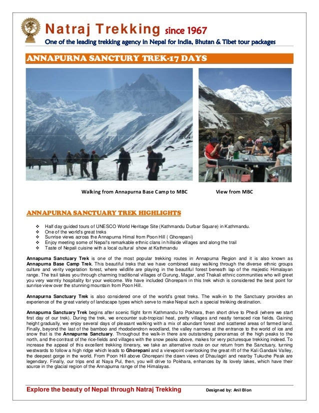Natraj Trekking since 1967 One of the leading trekking agency in Nepal for India, Bhutan & Tibet tour packages Explore the...