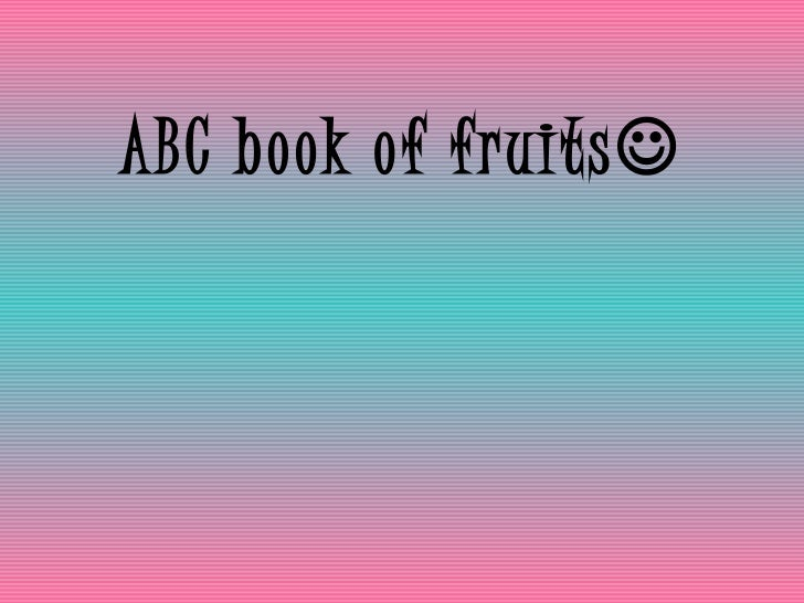 ABC book of fruits 
