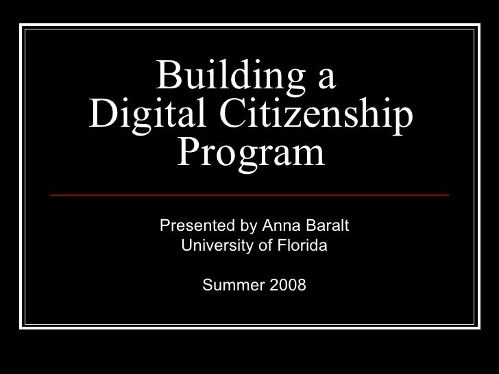 Digital citizenship Project