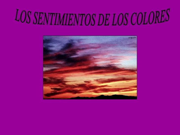 Los sentimientos de los colores