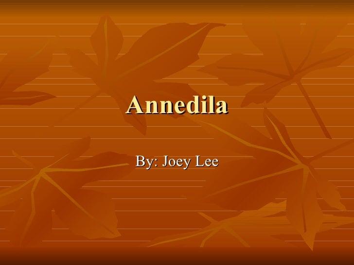 Annedila By: Joey Lee