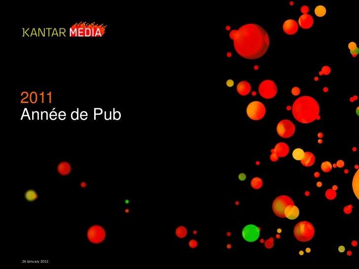2011Année de Pub26 January 2012